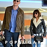 Cory Monteith and Lea Michele linked up at LAX after his stint in rehab.