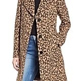 Kate Spade New York Leopard Wool Blend Coat