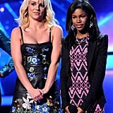 Britney Spears and Demi Lovato on The X Factor