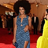 Beyoncé Knowles shared a pretty picture of her sister, Solange Knowles, at the Met Gala in NYC. Source: Instagram user beyonce