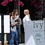 Kate lunched at the Ivy on the Shore.