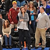 Jessica Alba hit up a Knicks game with her husband, Cash Warren, in March 2011 — we love her simple yet sophisticated skinny jeans, slouchy tee, and gray cardigan look.