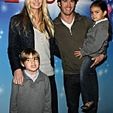 Catriona and Mark-Paul were all smiles with their kids when they saw Disney On Ice in 2010.