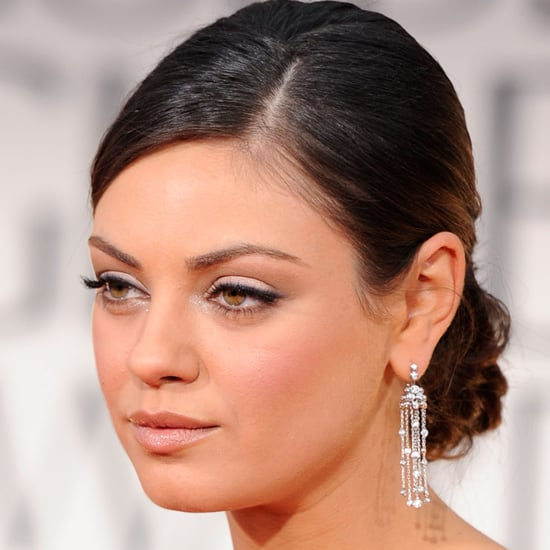 Mila Kunis' 2012 Golden Globes Hair and Makeup Look