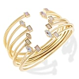 Kendra Scott Kinsley Gold Bangle Bracelet Set in Escape