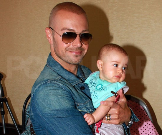 Slide Picture of Joey Lawrence With Baby Liberty in LA