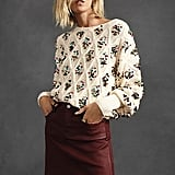 Anthropologie Lara Sequinned Sweater