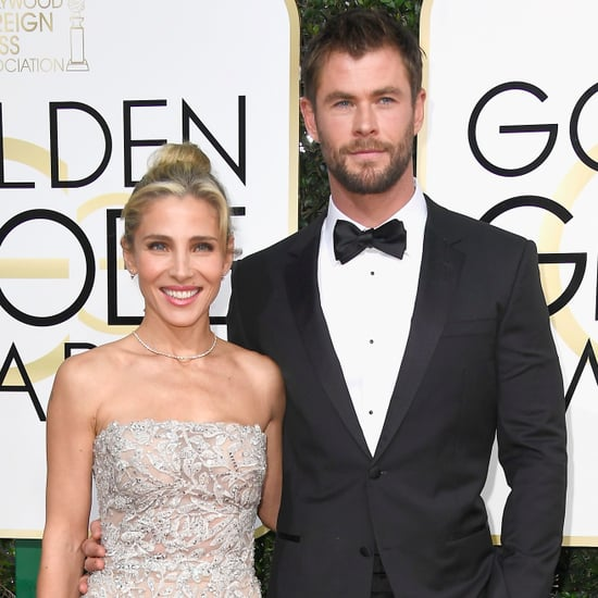 Chris Hemsworth and Elsa Pataky at the 2017 Golden Globes