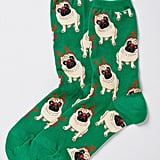 Ruff on the Housetop Socks in Green