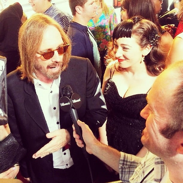 Tom Petty partied with a new crop of musicians.  Source: Instagram user billboard