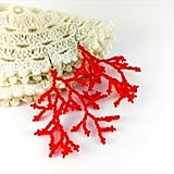 Red Beaded Coral Earrings