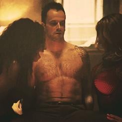 When he had this weird sexual encounter and we didn't even care because abs.
