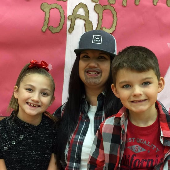 Single Mom Attends Event For Dads at School