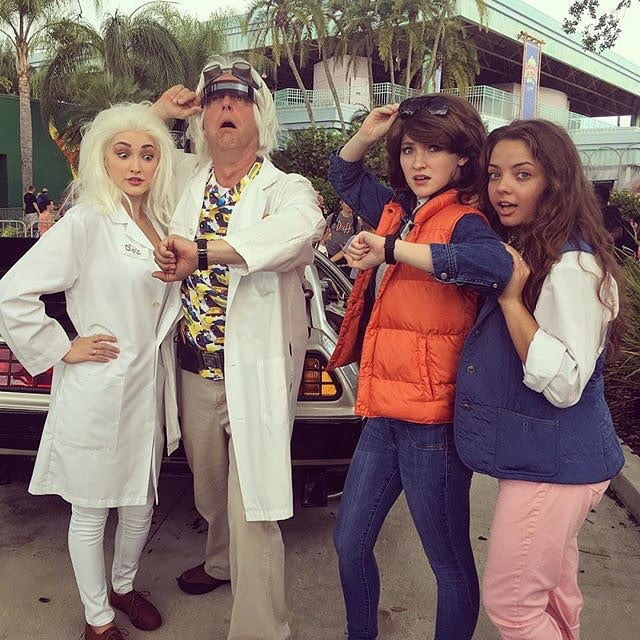 Doc Brown Marty Mcfly And Jennifer Parker Back To The