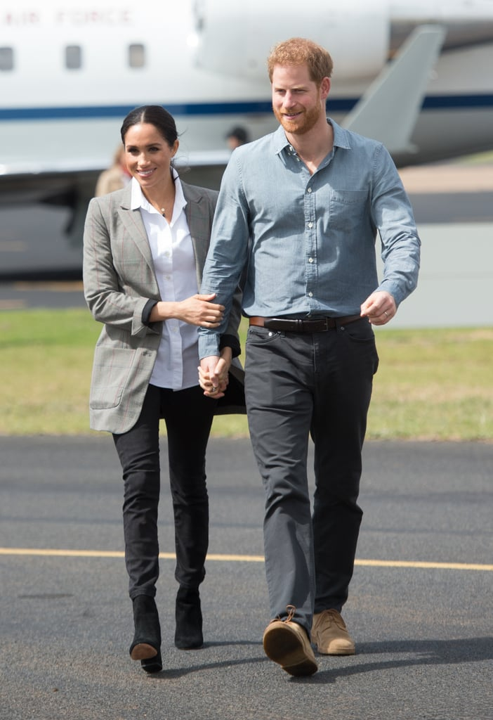 "If pregnancy is already changing Meghan Markle's sleep schedule, just wait until she has the baby! Since announcing she and Prince Harry are expecting their first child together earlier this week, the adorable royal duo has been touring around Australia, and causing quite a stir with their holy-sh*t-I'm-gonna-melt PDA. But, it's the conversations going on during these appearances that are revealing more and more about the couple, and we just can't get enough of it.  While attending a beach-side chat with OneWave, a Bondi Beach surfing non-profit focused on mental health, she spoke with Charlotte Waverly, a fellow pregnant woman, about her experience thus far. ""Meghan told me that pregnancy was like having jet lag,"" the 35-year-old mom-to-be told Sky News. ""She said she was up at 4:30 a.m. this morning doing yoga in her room as she couldn't sleep."" With Meghan about 12 weeks along in her pregnancy, we have to say she's handling all the traveling and appearances along their 16-day tour like a total queen duchess. We just know she's going to be an amazing mom. Meghan's frequently talking about her love for Vinyasa yoga, and how her mom was an instructor, but it's actually one of the best workouts to do while pregnant. Harry, we hope you're perfecting your tree pose alongside your wife during these early hours! Read on to see some gorgeous photos of Meghan since she announced her pregnancy earlier this week, and then, see all the moments from their Australian tour that prove she and Harry are going to make the best parents.      Related:                                                                                                           It Sounds Like Meghan Markle and Prince Harry Will Be Having a Small Family"
