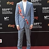 In another one of his signature suit-and-sneaker combinations, Timothée wore this floral Alexander McQueen suit to the Beautiful Boy Premiere during the San Sebastian International Film Festival in 2018.