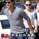 Kristen Stewart Goes Up to Bat With Taylor Lautner