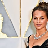 Alicia Vikander in Louis Vuitton at the 2017 Oscars