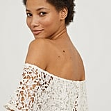 H&M Lace Off-the-Shoulder Dress