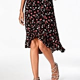 One Hart Printed Wrap Skirt