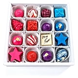 Maggie Louise Confections Chocolate Ornaments 16-Piece Chocolate Sampler Box