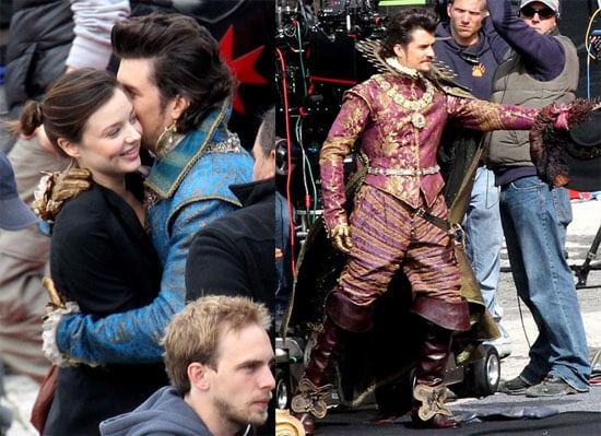 Pictures of Orlando Bloom, Milla Jovovich, and Christoph Waltz on the Set of The Three Musketeers