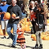 Ian Ziering picked out pumpkins with his entire family in LA.