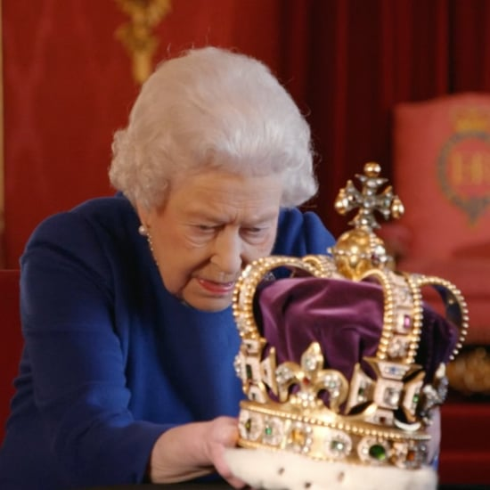 Queen Elizabeth II Plays With Her Crown