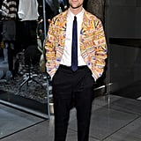 Brad Goreski's look proved dapper as usual. He styled himself in a colorfully printed blazer and loafers at the Dolce & Gabbana Fifth Avenue flagship opening.