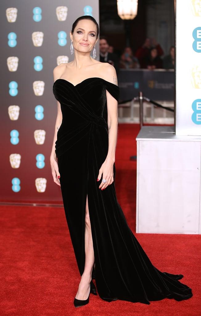 Angelina Jolie Ralph & Russo Dress at BAFTA Awards 2018