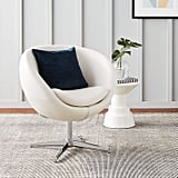 Best Selling Modern Leather Round Back Chair