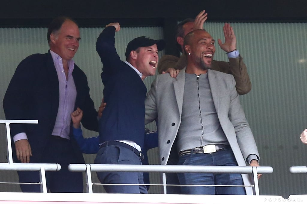 "Prince William enjoyed a guys' day out with former Norwegian soccer player John Carew at Wembley Stadium in England on Monday, and I've never seen him so happy! The 36-year-old royal cheered on his favorite soccer team Aston Villa as they faced Derby County for a spot in the Premier League, and he and John could barely contain their excitement when they won 2-1. Could this be the start of a new bromance? Just look at how cute he and John are!  ""He was in Norway a few months ago, and I got invited to a royal dinner at the castle with other ambassadors of sport. I did well in my home country, you know!"" John told Soccer AM about how they first met in 2018. ""He's a big football enthusiast. We spoke about football a lot, mainly Villa because he's a huge Aston Villa fan.""  Not to state the obvious, but John is also very easy on the eyes. Hopefully we'll get to see more of this blossoming bromance when the Premier League season begins on Aug. 10.       Related:                                                                                                           Who Has the Best Handwriting in the British Royal Family? We'll Let You Decide"