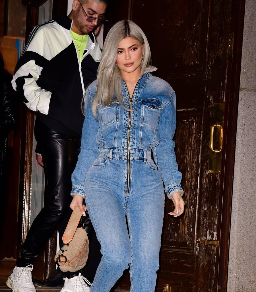 847f3374356 Kylie Jenner s Denim Jumpsuit November 2018