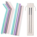 Estefanlo Reusable Silicone Straws Set