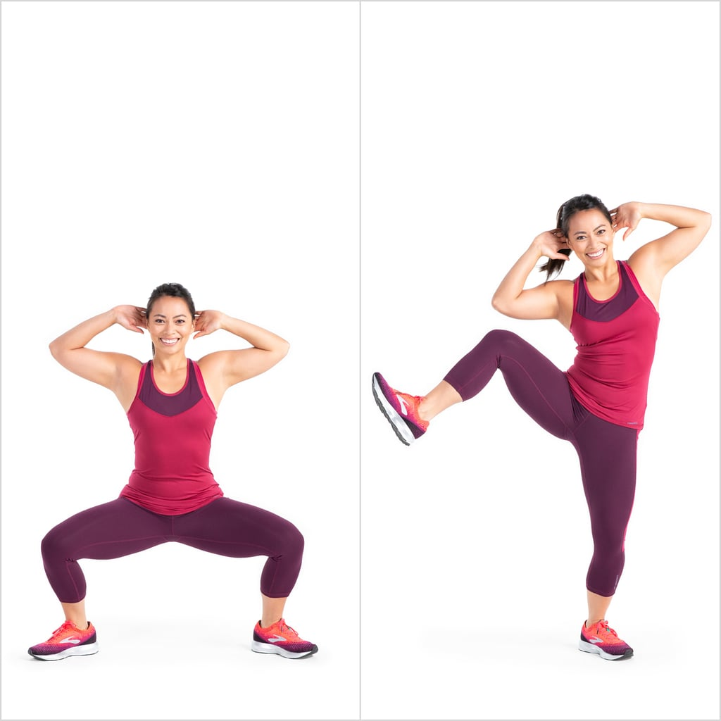 Sumo to Standing Side Crunch