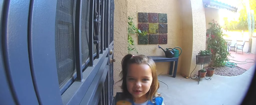 Kid's Cute Girl Scout Cookie Pitch Caught on Ring Video