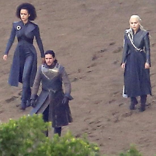 Jon Snow and Daenerys Targaryen Game of Thrones Set Pictures