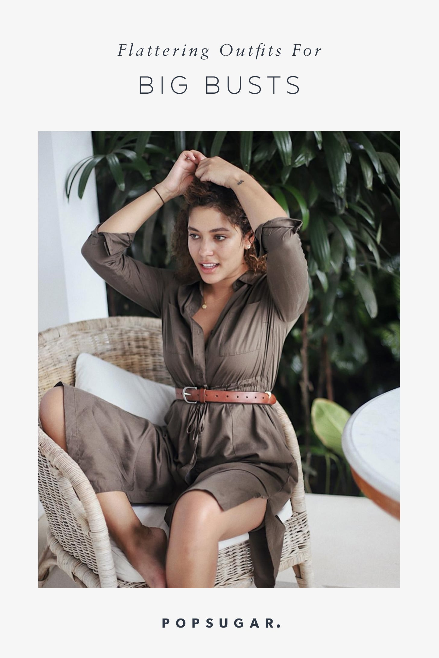 Flattering shirts for women with big boobs 42 Summer Outfits For Women With Full Busts Popsugar Fashion
