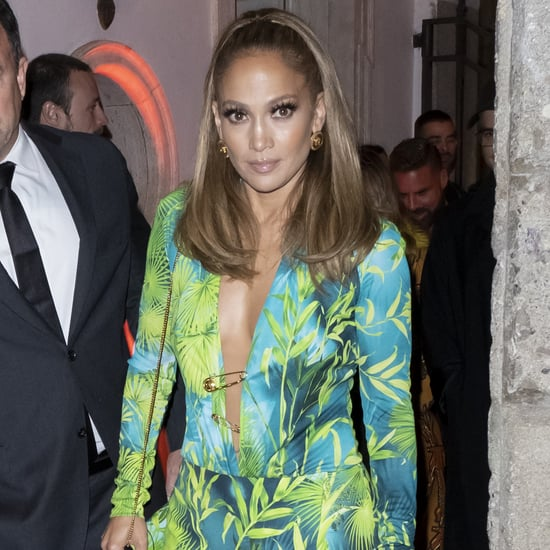 Jennifer Lopez's Versace Minidress Looks Like Grammys Gown
