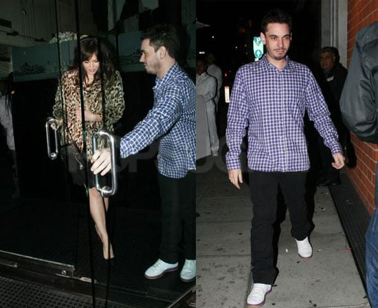 Mandy More and DJ Am at Mr. Chow in LA