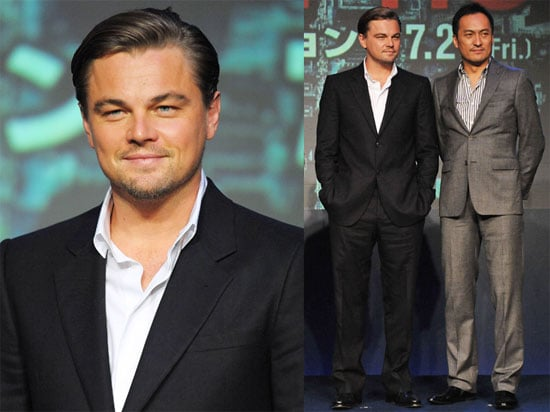 Pictures of Leonardo DiCaprio, Ellen Page, and Joseph Gordon-Levitt at a Tokyo Photo Call For Inception