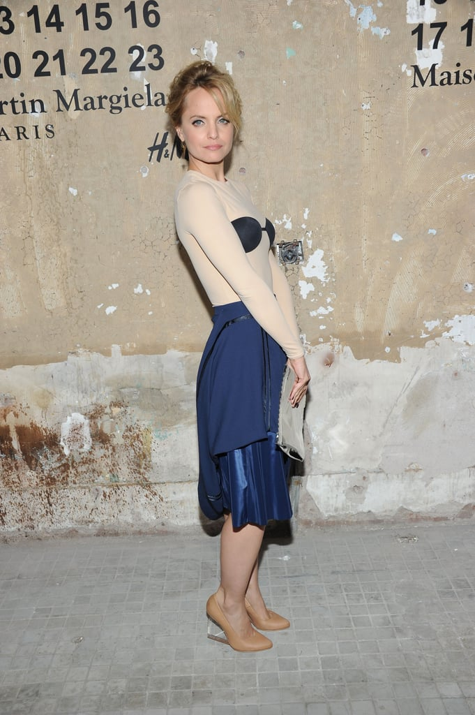 Mena Suvari attended the launch of Maison Martin Margiela for H&M in NYC.