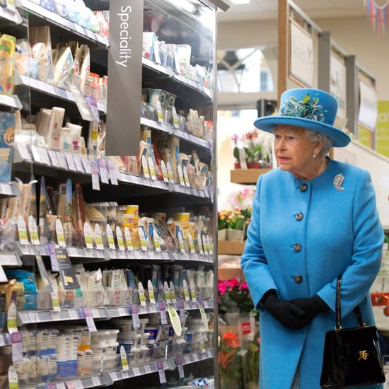 Queen Elizabeth at Waitrose Store in Poundsbury Oct. 2016