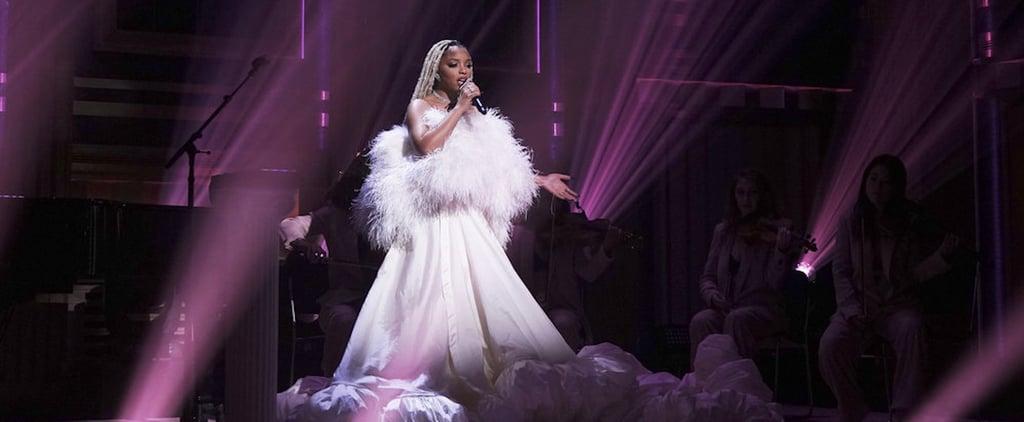 See Chloe Bailey's White Monsoori Dress on The Tonight Show