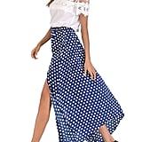 Romacci Asymmetric Hem Skirt