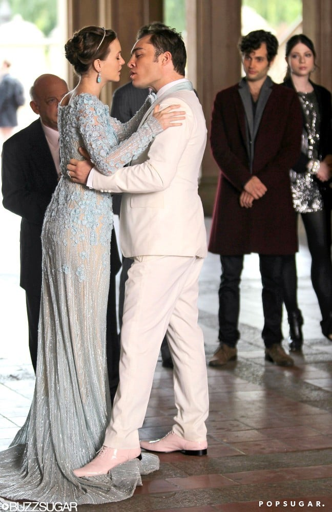 Gossip Girl Blair And Chuck Wedding Pictures Popsugar