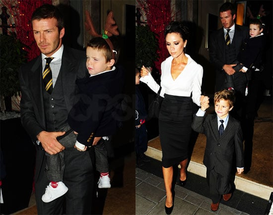 The Beckhams Celebrate Christmas Eve