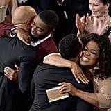 Common, David Oyelowo, John Legen and Oprah Winfrey