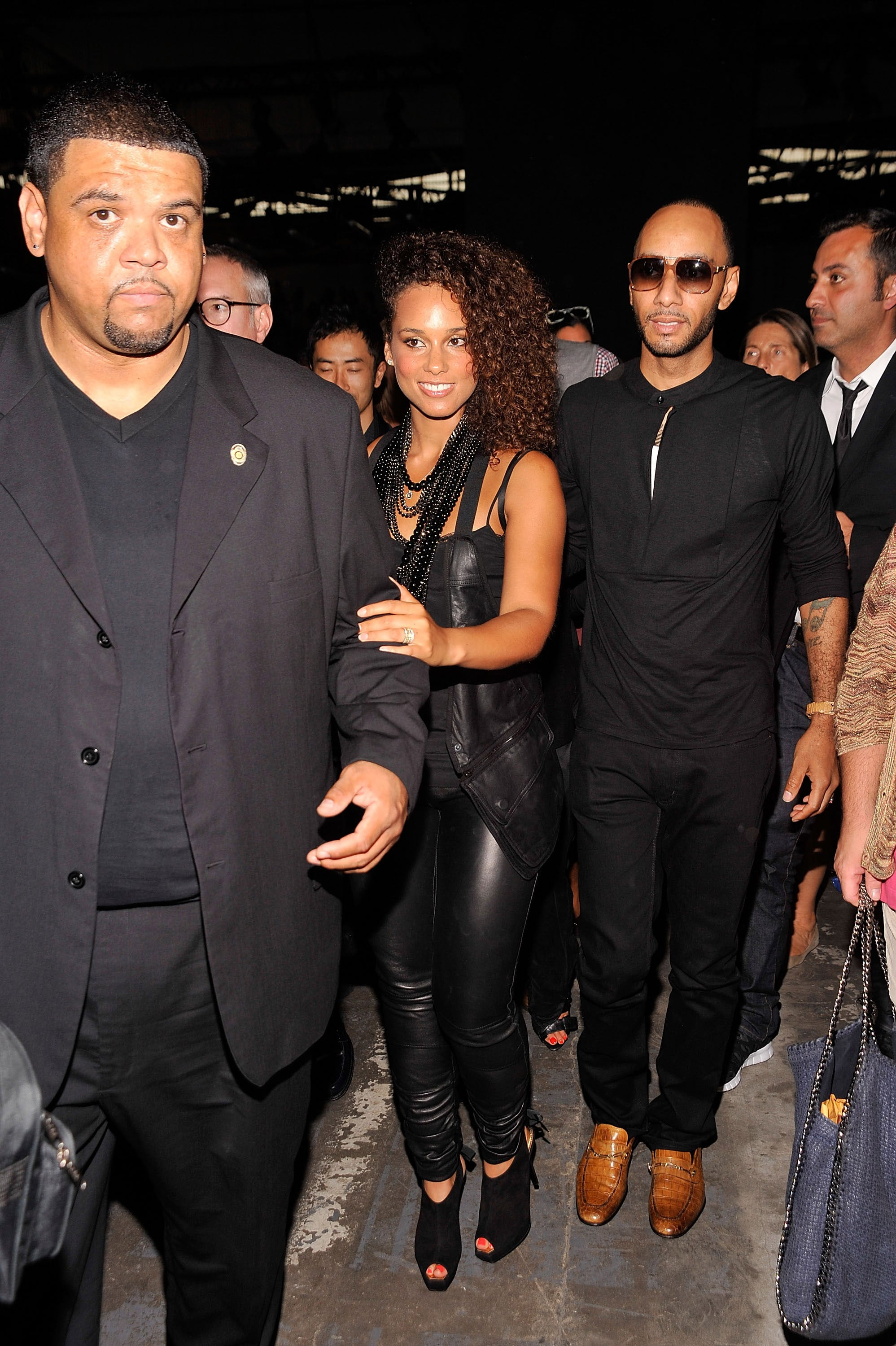 Alicia Keys and Swizz Beatz at Alexander Wang.
