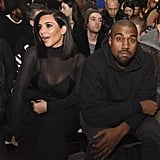 Kim Kardashian and Kanye West at NYFW